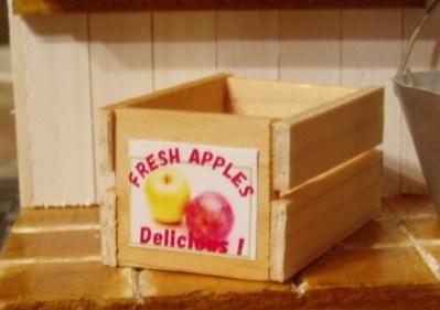 完成したリンゴの箱