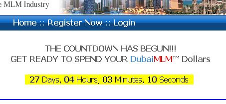 DubaiMLM カウントダウン
