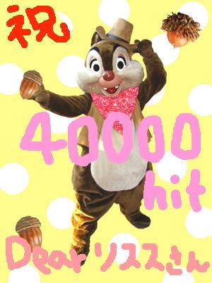 リスス☆さんへ 40000HITs