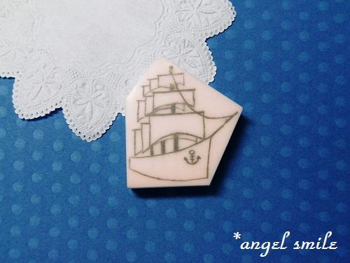 帆船のはんこ1