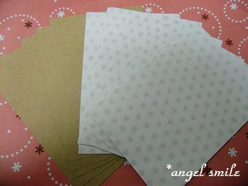 ハガキサイズの紙