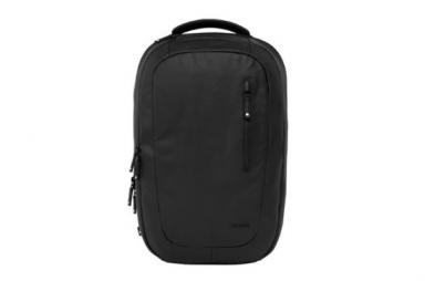 COATED CANVAS BACKPACK:BLACK