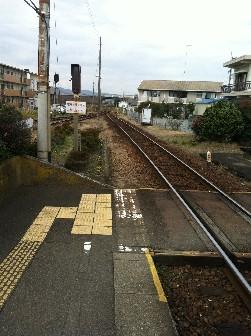 羽ノ浦駅線路