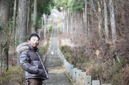 12正月石割神社階段