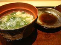 岩海苔の味噌汁@鮨 石島