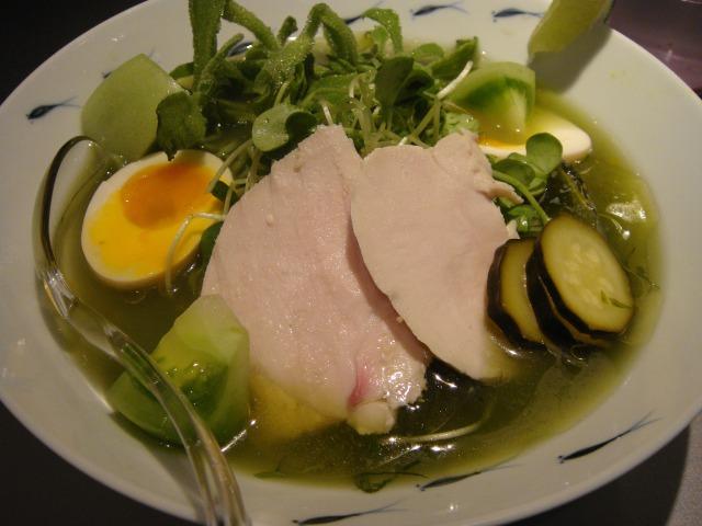グリーンベジ冷麺@ソラノイロ japanese soup noodle free style
