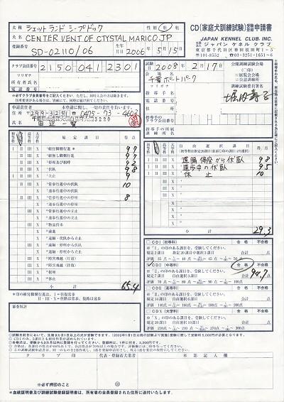 CDⅡ成績表