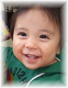 1歳の笑顔