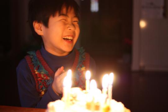 8歳の誕生日を迎えた長男