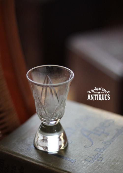 フランス 仏 アンティーク ヴィンテージ ブロカント グラス ガラス 切子 カット