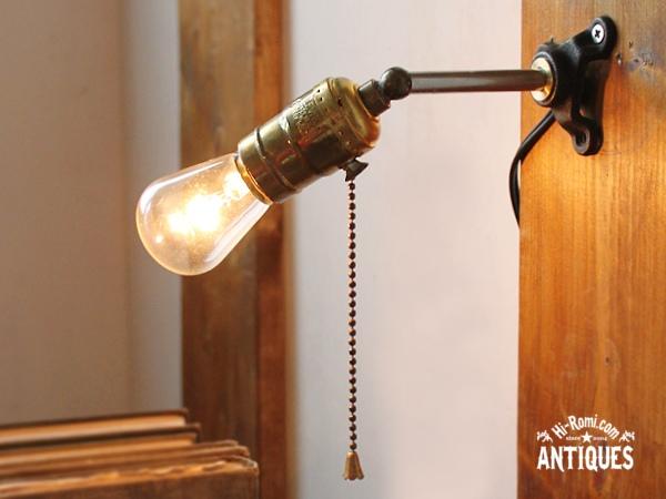 USA工業系LEVITON真鍮ソケットウォールランプ/アンティーク照明