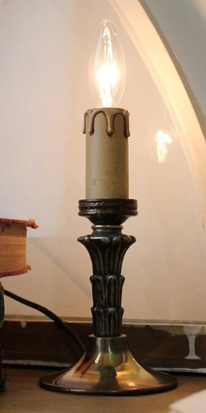 アメリカンヴィンテージ1灯キャンドルミニテーブルランプ/アンティークライト