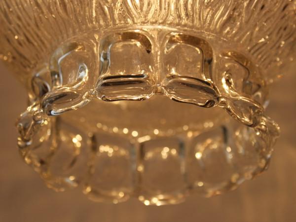 アメリカンヴィンテージクリアガラスシェードスワッグランプ/アンティークペンダントライト