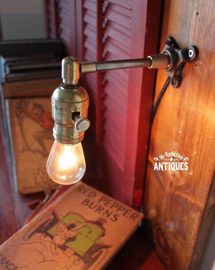 真鍮ファットボーイソケット工業系壁掛ライト/アンティーク照明 20120104-11
