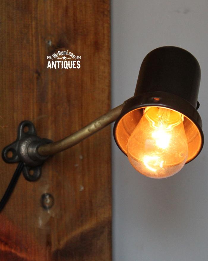 シェードホルダー付工業系ウォールランプ/アンティーク壁掛照明 20120104-12