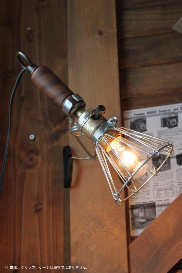 木製ハンドルトラブルライト/アンティークペンダント工業ランプ