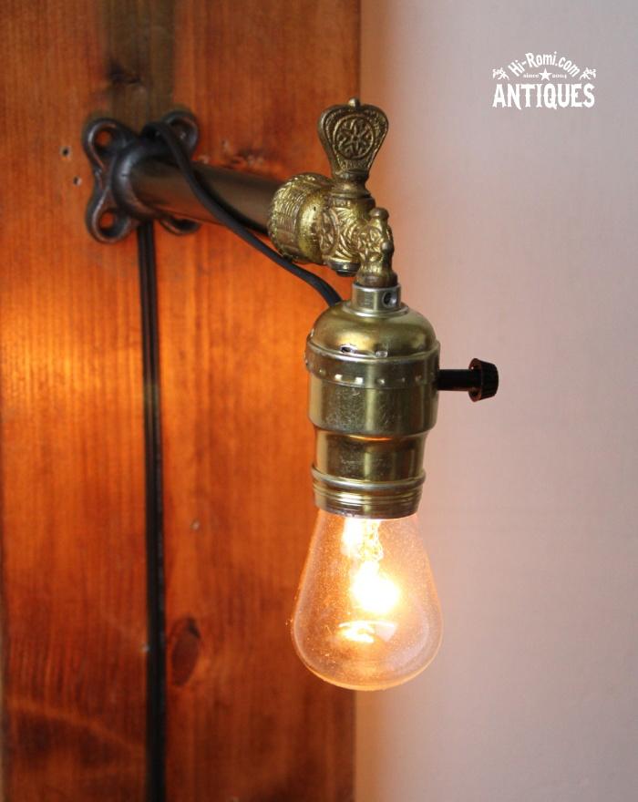 LEVITONソケット工業系壁掛ライトガス燈/アンティーク照明ランプ