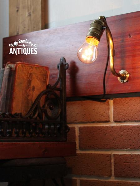 EAGLEソケット工業系真鍮ウォールランプ/アンティーク壁掛ライト