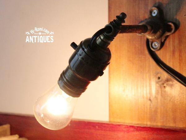 工業系GE社ソケット真鍮ウォールランプ/アンティーク壁掛ライト 20120216-1