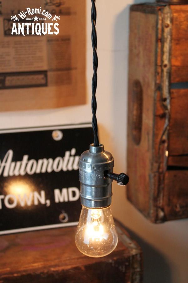 USAアルミ製ソケットペンダントライトS1/アンティーク照明ランプ