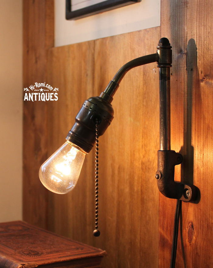USA工業系スウィングアーム真鍮壁掛ライトMONOWATT/アンティーク 20111123