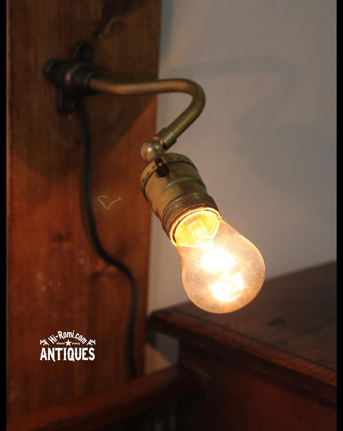 LEVITON角度調整付工業系真鍮壁掛ランプ/アンティーク照明ライト 20111124