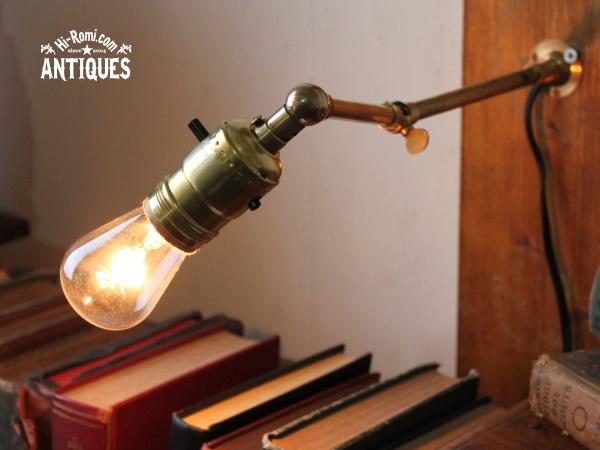 角度調整付工業系真鍮ウォールランプ/アンティーク壁掛ライト 20121206-1
