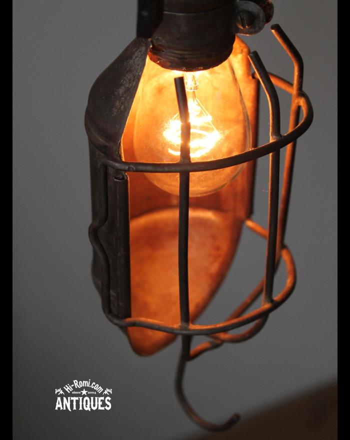 USA工業系ケージカバー付トラブルライト/アンティークランプ照明 20121206-1