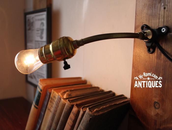 LEVITONソケット工業系回転アーム壁掛ライト/アンティーク照明