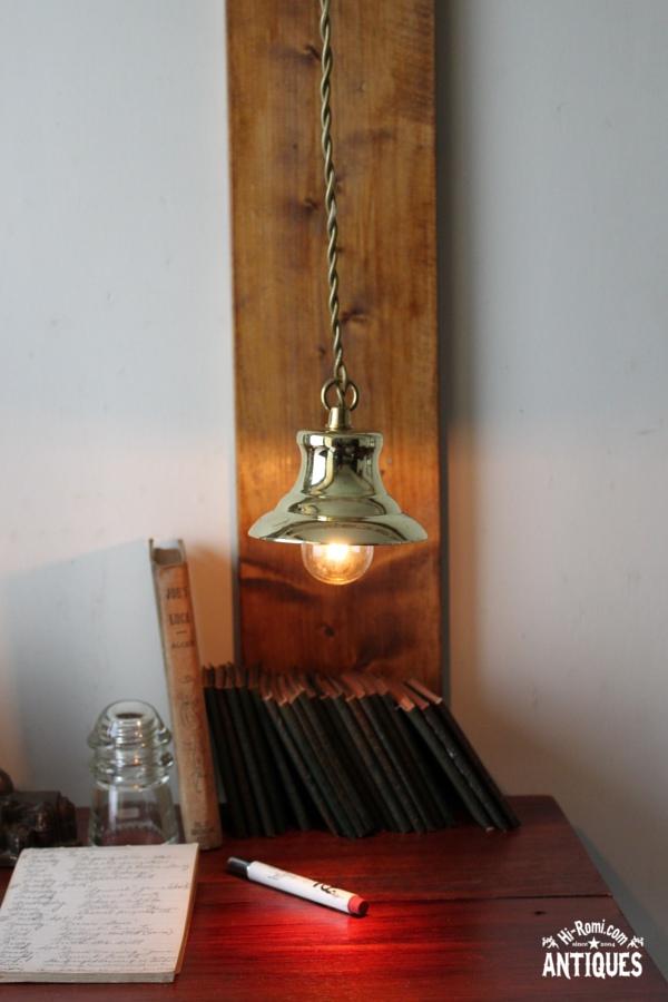 USAベル型ペンダントランプ/アンティーク吊下ライト照明工業系