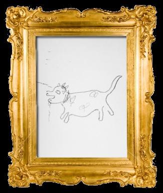 看板犬ココちゃんをオーナーRomiが描きました。