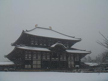 雪の東大寺