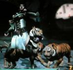 虎に襲われる星彩