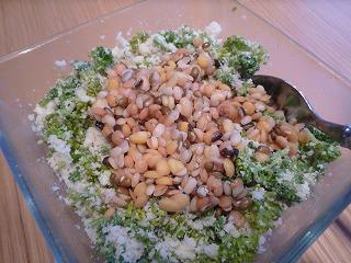 おからとお豆とパセリとアンチョビサラダ