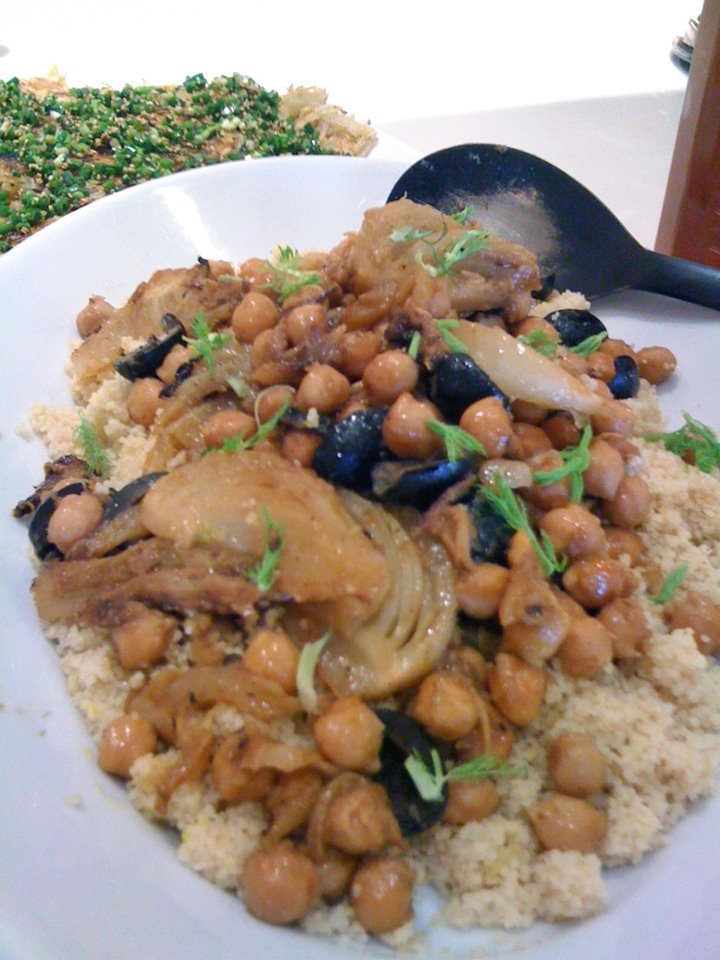 Couscous with Chickpeas, Fennel  Citrus