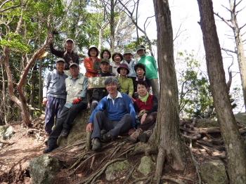 明神山山頂 AとBグループ
