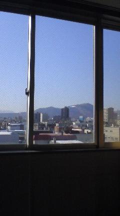 山が見えます