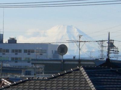 見納めが近い富士山(アップ)