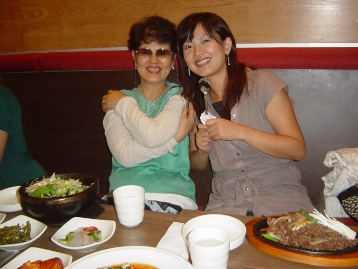 Mum and me Korean food