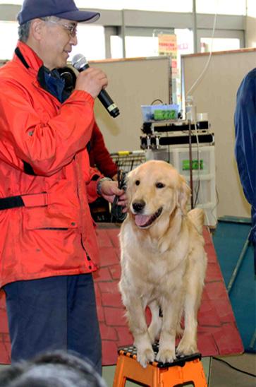 救助犬デモ 3.11 (5)