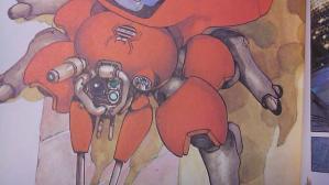 頭部にクモのイラストがww フチコマにしろタチコマにしろ基本クモなんだな