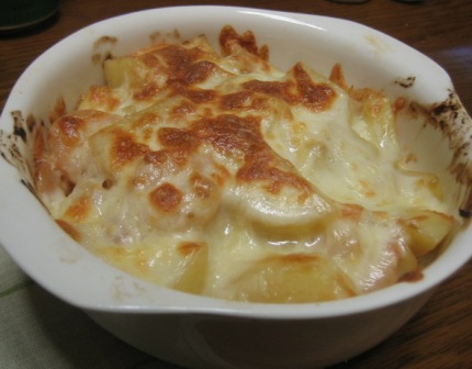 080123 エビとジャガイモのチーズ焼き