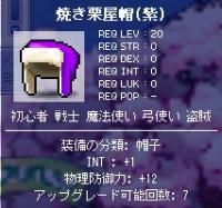 焼き栗屋帽(紫)だ!