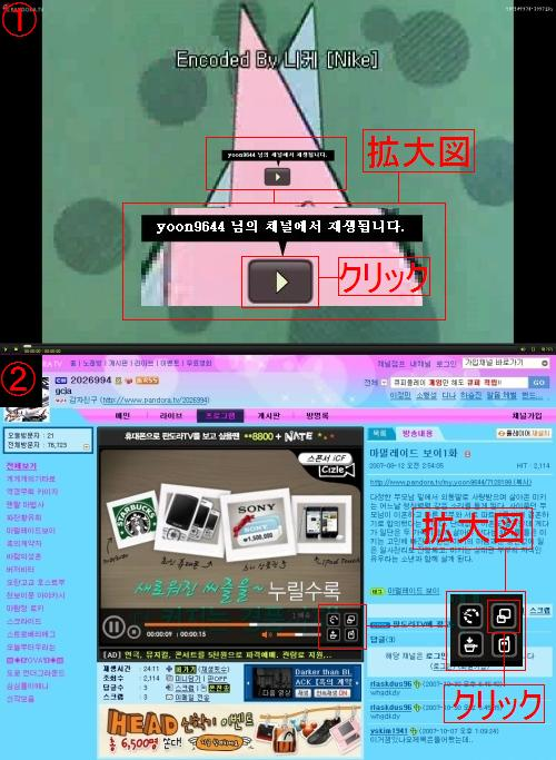 Pandora.TVとMgoonの視聴方法