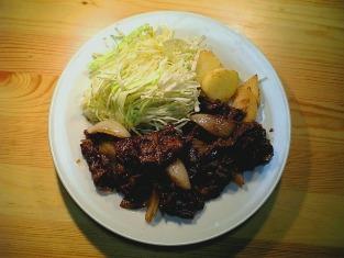 牛焼肉定食(和牛バラ)001