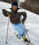 スキー立ち写真