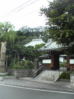 本門寺付近