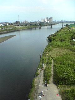 丸子橋からの多摩川