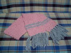 鹿の子編みマフラー