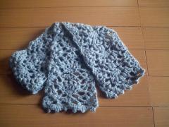 模様編みマフラー